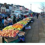Bantry market day stalls.