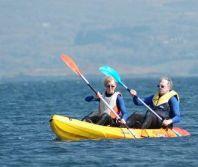 kayak with 2 adults